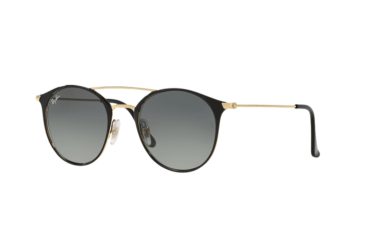 Ray Ban Round RB3546 Gold Top Black lente Grey Gradient cod. RB3546 187/71 49 - Image 1