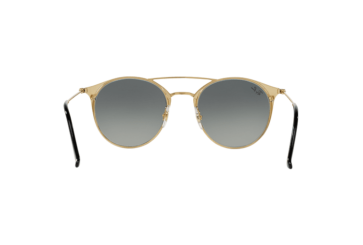 Ray Ban Round RB3546 Gold Top Black lente Grey Gradient cod. RB3546 187/71 49 - Image 6