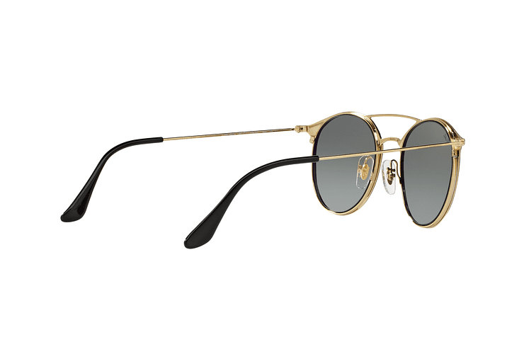 Ray Ban Round RB3546 Gold Top Black lente Grey Gradient cod. RB3546 187/71 49 - Image 8