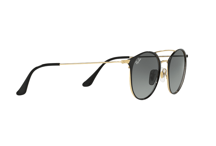 Ray Ban Round RB3546 Gold Top Black lente Grey Gradient cod. RB3546 187/71 49 - Image 10