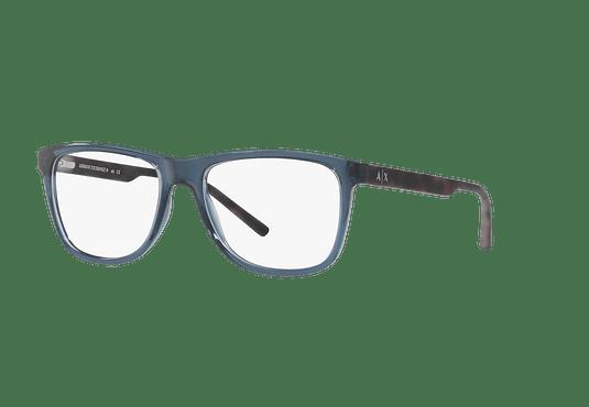 Armazón óptico Armani Exchange AX3048 Transparent Blue Dress cod. AX3048 8238 54