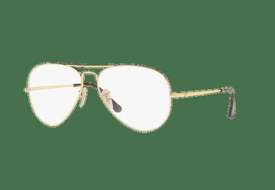 Armazón óptico Ray Ban Aviador RX6489 Gold cod. RX6489 2500 58