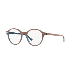 Armazón óptico Ray-Ban Dean Top Light Brown On Havana Blue cod. RX7118 5715 50