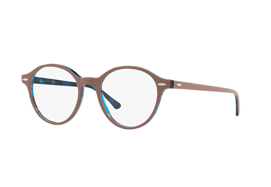 189225918d Ver más detalles · Armazón óptico Ray Ban Dean Top Light Brown On Havana  Blue cod. RX7118 5715 50