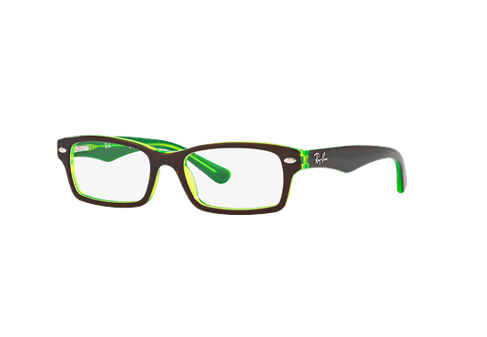 db8306d6e5 Ver más detalles · Armazón óptico Ray Ban Junior RY1530 Top Brown On Green  Fluo cod. RY1530 3665 48