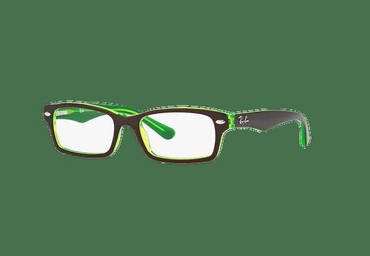 Armazón óptico Ray Ban Junior RY1530 Top Brown On Green Fluo cod. RY1530 3665 48 (Producto para Niños)