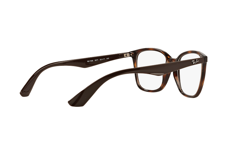 Armazón óptico Ray Ban RX7066 Shiny Havana cod. RX7066 5577 52 - Image 8