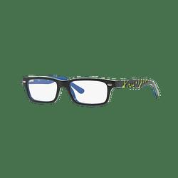Armazón óptico Ray Ban Junior RY1535 Top Dark Grey On Blue cod. RY1535 3600 48 (Producto para Niños)