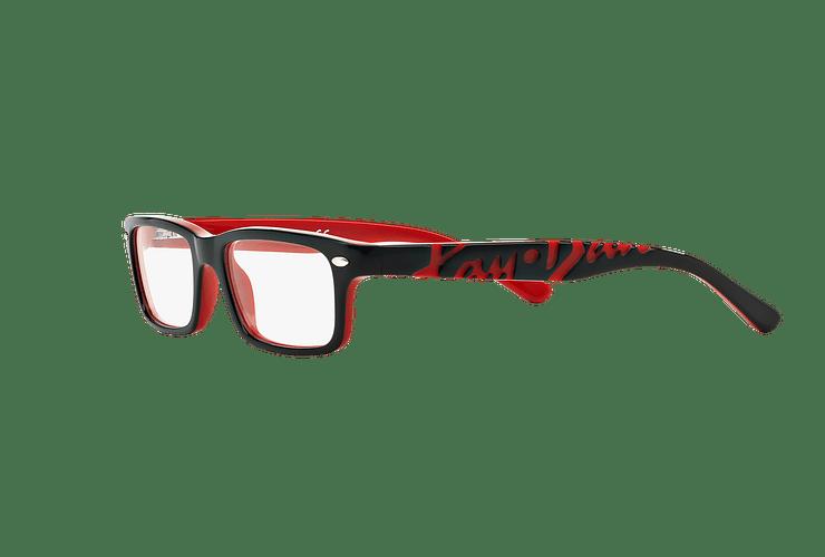 67dc712ed055d Armazón óptico Ray Ban Junior RY1535 Top Black On Red cod. RY1535 3573 48 (