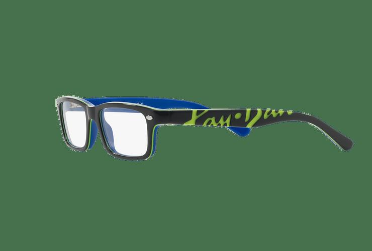 Armazón óptico Ray Ban Junior RY1535 Top Dark Grey On Blue cod. RY1535 3600 48 (Producto para Niños) - Image 2