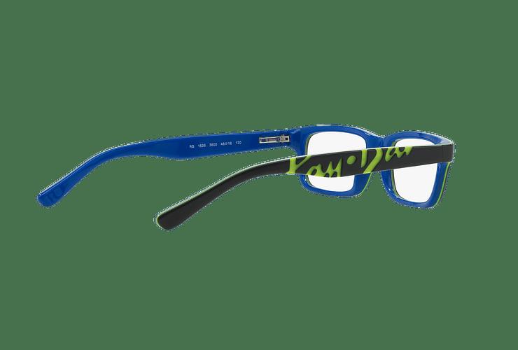 Armazón óptico Ray Ban Junior RY1535 Top Dark Grey On Blue cod. RY1535 3600 48 (Producto para Niños) - Image 8
