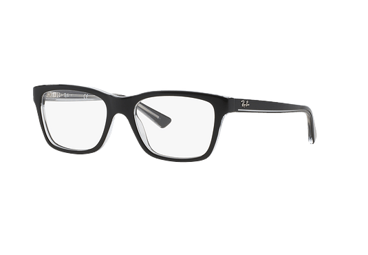 Armazón óptico Ray Ban Junior RY1536 Top Black On Transparent cod. RY1536 3529 48 (Producto para Niños)