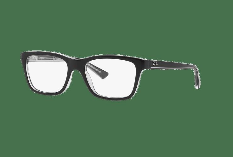 Armazón óptico Ray Ban Junior RY1536 Top Black On Transparent cod. RY1536 3529 48 (Producto para Niños) - Image 1