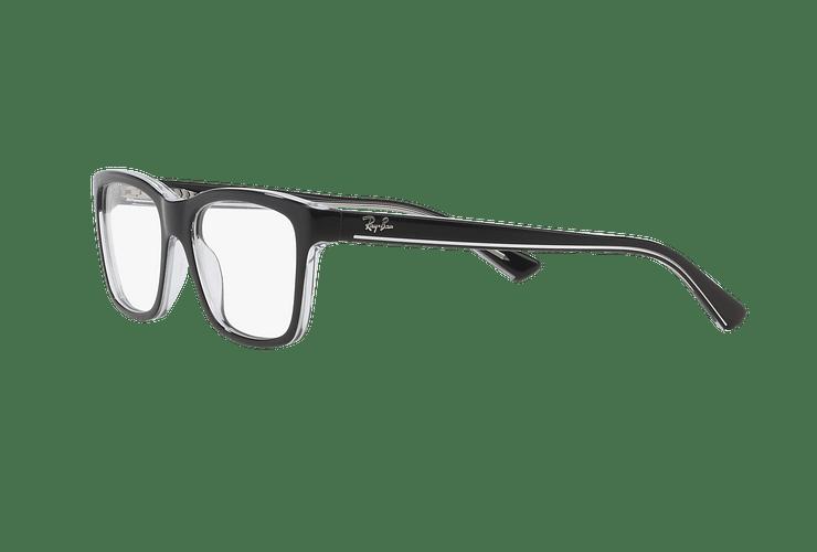 Armazón óptico Ray Ban Junior RY1536 Top Black On Transparent cod. RY1536 3529 48 (Producto para Niños) - Image 2