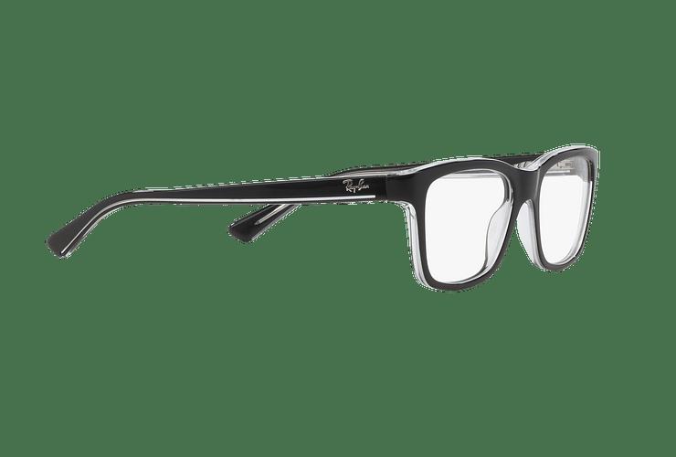 Armazón óptico Ray Ban Junior RY1536 Top Black On Transparent cod. RY1536 3529 48 (Producto para Niños) - Image 10