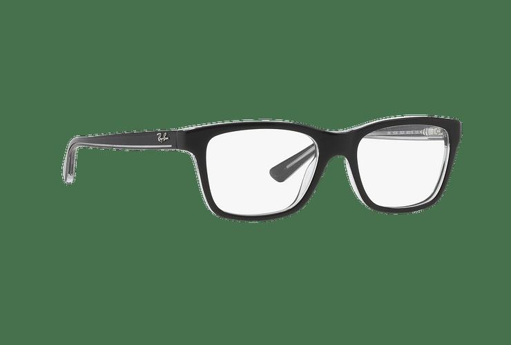 Armazón óptico Ray Ban Junior RY1536 Top Black On Transparent cod. RY1536 3529 48 (Producto para Niños) - Image 11