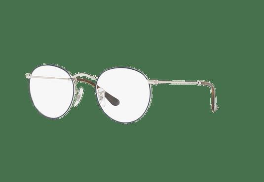 Armazón óptico Ray Ban Round Metal Silver On Top Blue cod. RX3447V 2970 50