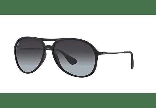 Ray Ban Alex Rubber Black lente Grey Gradient cod. RB4201 622/8G 59