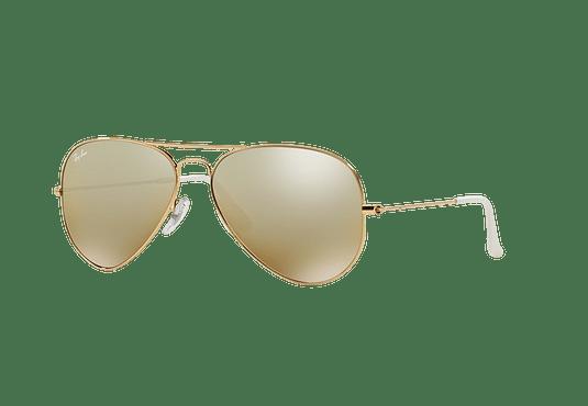 Ray Ban Aviador Gold lente Brown Silver Mirror Gradient cod. RB3025 001 3K  58 a7a0db8566
