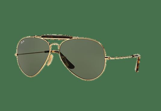 Ray Ban Outdoorsman II Gold lente Dark Green cod. RB3029 181 62