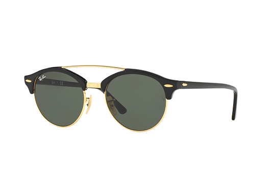 Ray Ban Clubround Double Bridge Black lente Green cod. RB4346 901 51