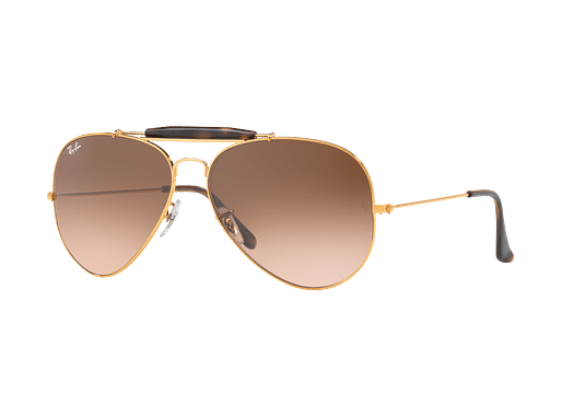 Ray Ban Outdoorsman II Shiny bronze lente Pink Gradient Brown cod. RB3029 9001A5 62