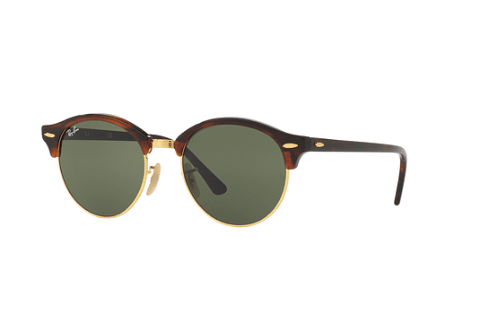 Ray Ban Clubround Red Havana lente Green cod. RB4246 990 51