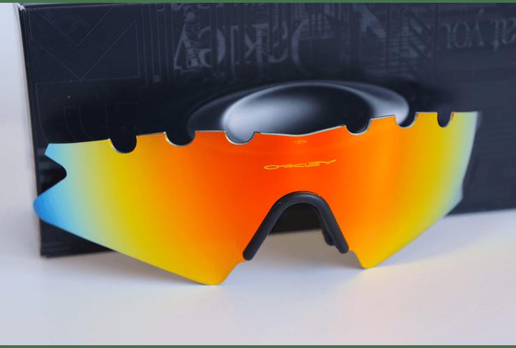 Lentes de repuesto OAKLEY VENTED M-Frame SWEEP Color FIRE IRIDIUM Cod. 06-654 - Image 2