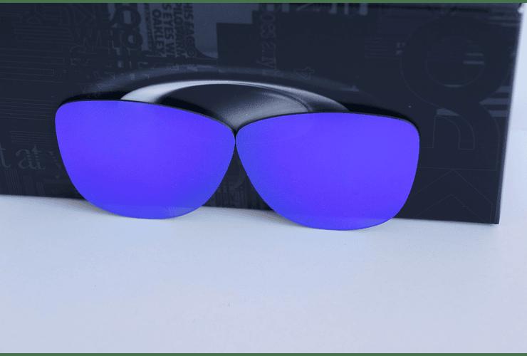 Lentes de repuesto OAKLEY FROGSKINS Color VIOLET IRIDIUM Cod. B004 - Image 3