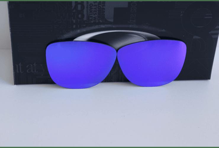 Lentes de repuesto OAKLEY FROGSKINS Color VIOLET IRIDIUM Cod. B004 - Image 4