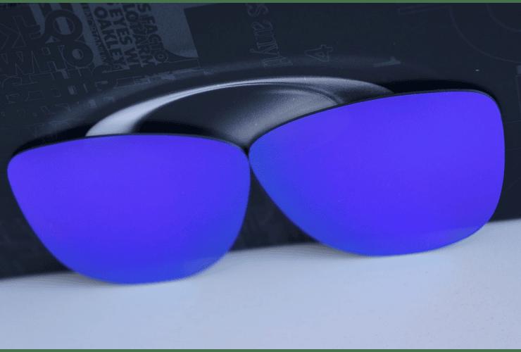 Lentes de repuesto OAKLEY FROGSKINS Color VIOLET IRIDIUM Cod. B004 - Image 6