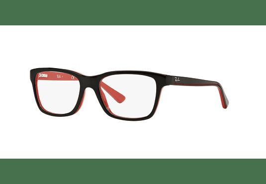 Armazón óptico Ray Ban Junior RY1536 Top Black On Red cod. RY1536 3573 48 (Producto para Niños)