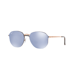 Ray-Ban Blaze Hexagonal Copper lente Blue / Silver Mirror cod. RB3579N 90351U 58