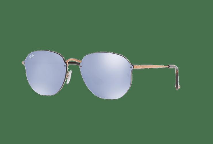 Ray Ban Blaze Hexagonal Copper lente Blue / Silver Mirror cod. RB3579N 90351U 58 - Image 1