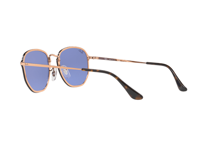 Ray Ban Blaze Hexagonal Copper lente Blue / Silver Mirror cod. RB3579N 90351U 58 - Image 4