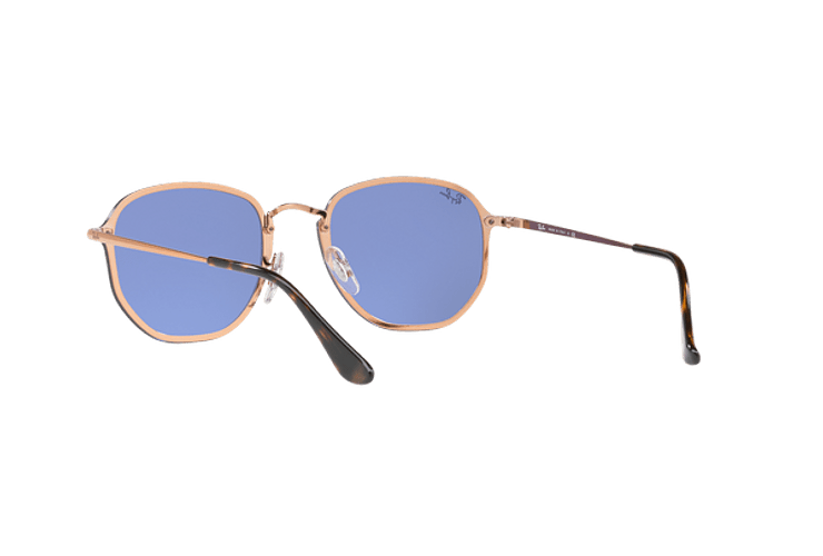 Ray Ban Blaze Hexagonal Copper lente Blue / Silver Mirror cod. RB3579N 90351U 58 - Image 5