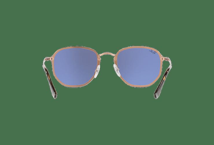 Ray Ban Blaze Hexagonal Copper lente Blue / Silver Mirror cod. RB3579N 90351U 58 - Image 6