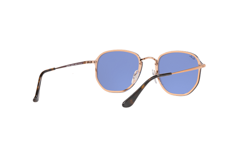 Ray Ban Blaze Hexagonal Copper lente Blue / Silver Mirror cod. RB3579N 90351U 58 - Image 7