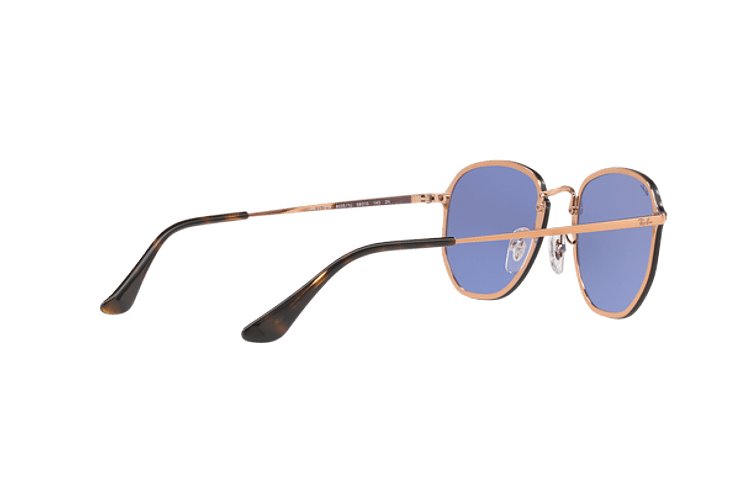 Ray Ban Blaze Hexagonal Copper lente Blue / Silver Mirror cod. RB3579N 90351U 58 - Image 8