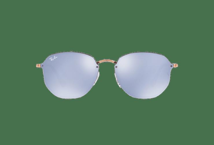 Ray Ban Blaze Hexagonal Copper lente Blue / Silver Mirror cod. RB3579N 90351U 58 - Image 12