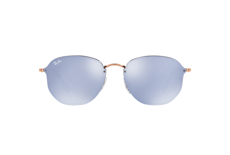 Ray Ban Blaze Hexagonal Copper lente Blue / Silver Mirror cod. RB3579N 90351U 58 - Image 12