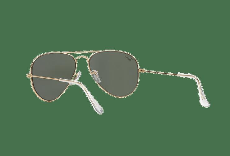 Ray-Ban Aviador Gold lente Green / Grey cod. RB3025 W3234 55 - Image 5