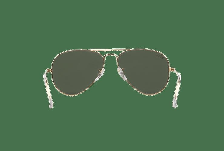 Ray-Ban Aviador Gold lente Green / Grey cod. RB3025 W3234 55 - Image 6