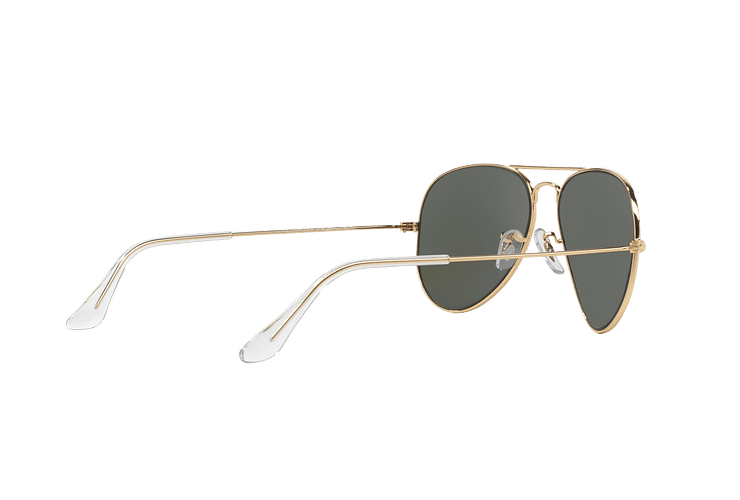 Ray-Ban Aviador Gold lente Green / Grey cod. RB3025 W3234 55 - Image 8
