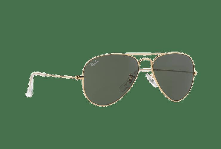 Ray-Ban Aviador Gold lente Green / Grey cod. RB3025 W3234 55 - Image 11