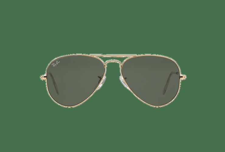 Ray-Ban Aviador Gold lente Green / Grey cod. RB3025 W3234 55 - Image 12
