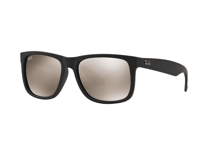 Ray Ban Justin Rubber Black lente Mirror Gold cod. RB4165 622/5A 54 - Image 1