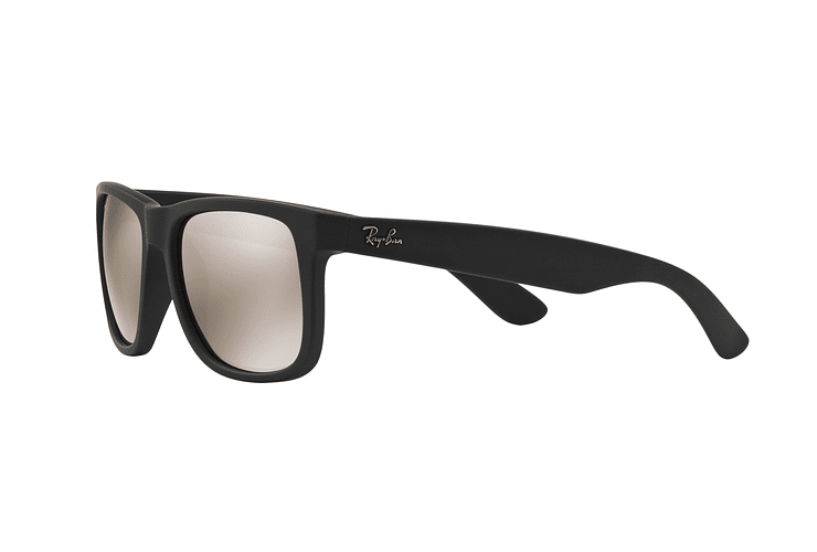 Ray Ban Justin Rubber Black lente Mirror Gold cod. RB4165 622/5A 54 - Image 2