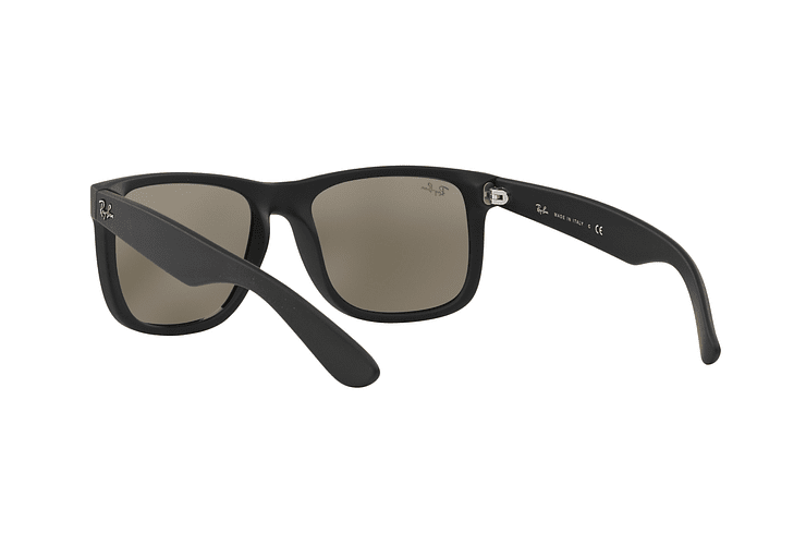 Ray Ban Justin Rubber Black lente Mirror Gold cod. RB4165 622/5A 54 - Image 5