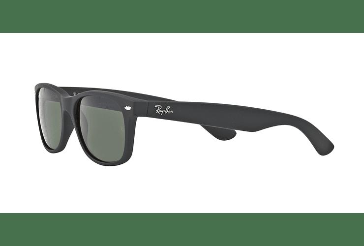 Ray Ban New Wayfarer Black Rubber lente Crystal Green cod. RB2132 622 52 - Image 2